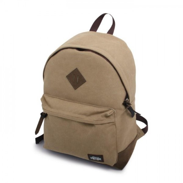 Vintage Canvas Backpack Kaki