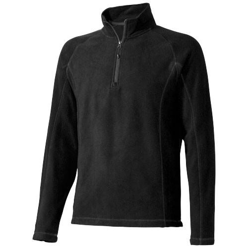 Bowlen heren microfleece sweater met kwart rits