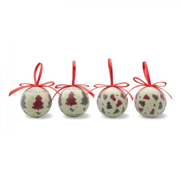 4-Delige kerstballenset