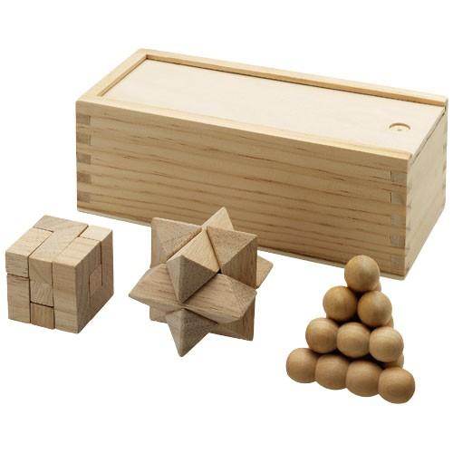 Brainiac 3-delig houten denkspel