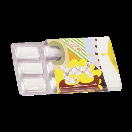 Kauwgum met Xylitol blister 6 stuks in kartonnen huls incl. full colour