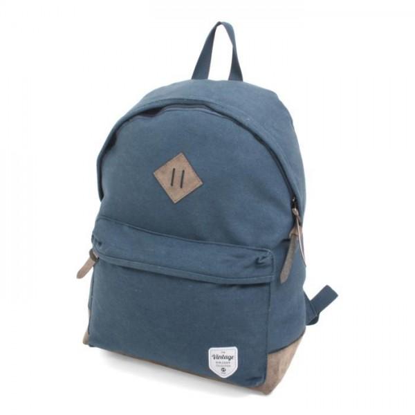 Vintage Canvas Backpack Blue