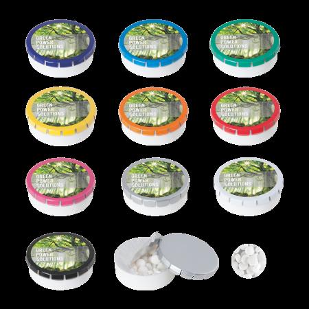 Super click clack 45 mm met ca. 12 gr. suikervrije mintjes DIGITAAL tot full Colour