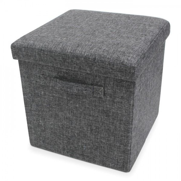 Foldable Storage Pouffe with handles Yarn Antracite