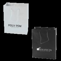 Mat gelamineerde papieren tas 160x190x80 mm zwart en wit