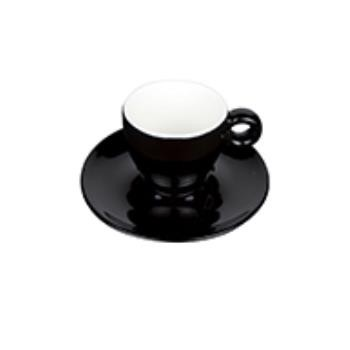 Bola Espresso zwart-roomwit 8 cl. SET