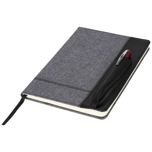 Heathered A5 notitieboek met ruimte voor een pen