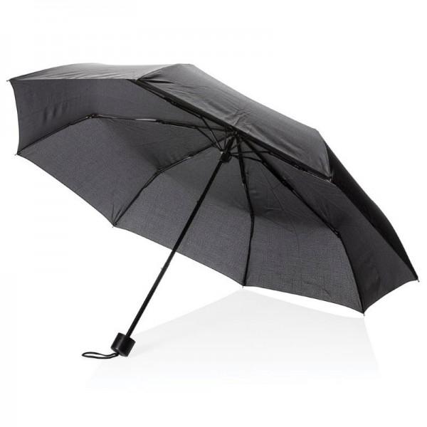 """21"""" manueel open paraplu met tote tas, zwart"""