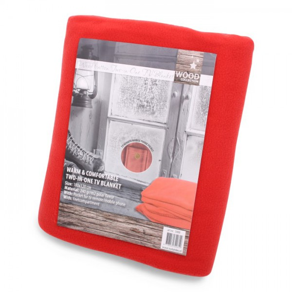 Two in One TV Blanket Red