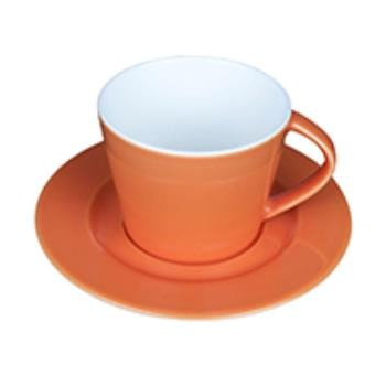 Eva Koffie oranje-roomwit 20 cl. SET