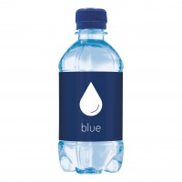 Bronwater 330 ml met draaidop blauw