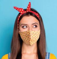 Herbruikbaar masker met filterzakje.