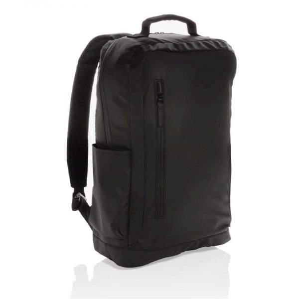 "Fashion black PVC vrije 15.6"" laptop rugtas, zwart"