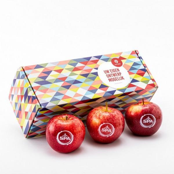 Full color geschenkverpakking incl. 3 appels
