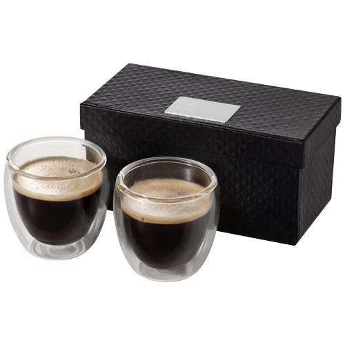 Boda 2-delige espressoset van glas