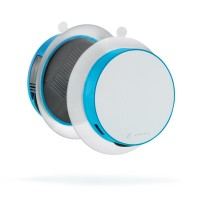 turquoise, wit (± pms 313/white)