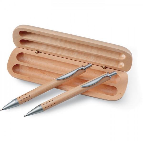 Luxe houten schrijfset