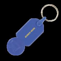Sleutelhanger winkelwagenmuntje € 0,50
