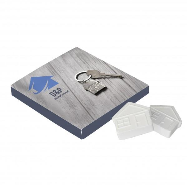 Vierkant doosje met huismints