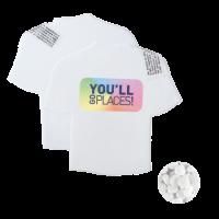 T-shirt mintdispenser wit met ca. 8 gr. mintjes en ingredienten label DIGITAAL tot full colour