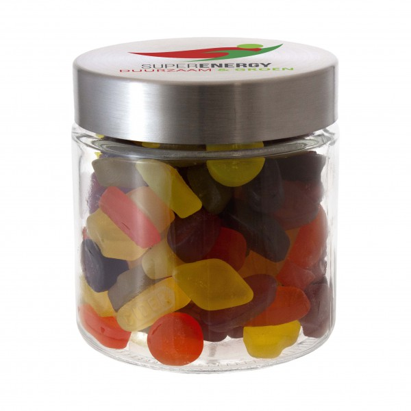 Glazen pot met RVS deksel 0,9 liter
